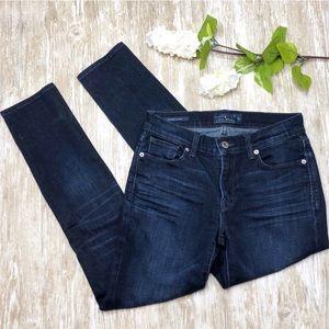{Lucky Brand} Brooke Skinny Jeans Dark Blue Wash